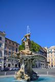 fountain of the God Triton in Barberini square, Rome Italy.