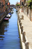 Venice - narrow canal - famous place, Veneto, Italy;  attraction, sightseeing, vacations, travel, tourism. - 222702297