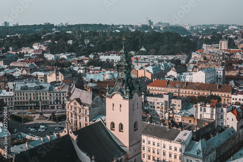Lviv, Ukraine, view of the city from above - 222704458