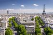 View on Paris from Arc de Triomphe, Paris, France