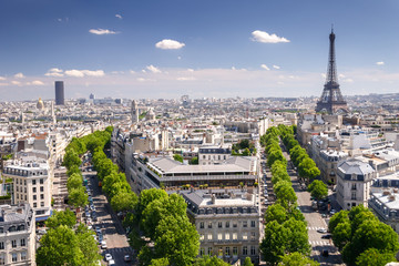 View on Paris from Arc de Triomphe, Paris, France