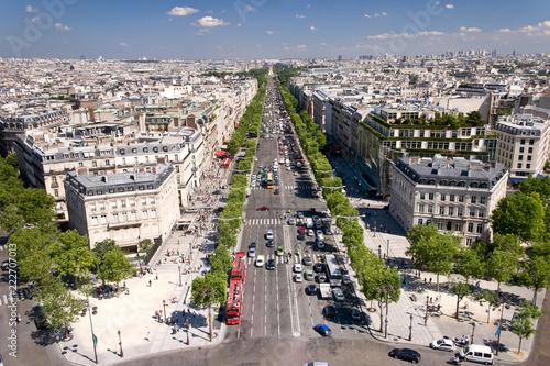 View on Paris from Arc de Triomphe, Paris, France - 222707013