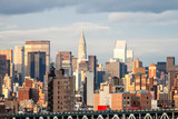 View on Manhattan from The Brooklyn bridge, New York, USA