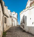 street in old town of granada spain