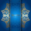 Elegant background with a gold mandala design - 222728070