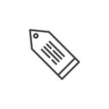 Tag with text outline icon. linear style sign for mobile concept and web design. Label simple line vector icon. Price tag symbol, logo illustration. Pixel perfect vector graphics - 222733681