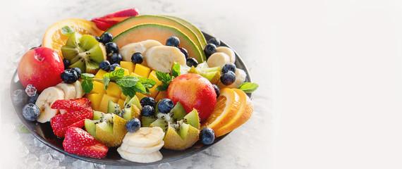 Fruit and berries platter. © bit24