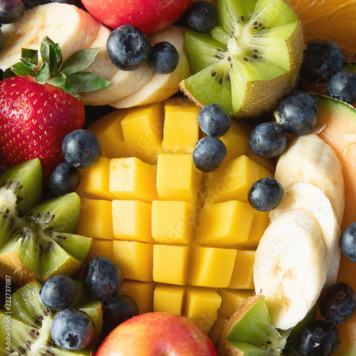 Fruit and berries platter. - 222737087