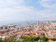 Aerial panorama of the beautiful city of Alicante. Spain.