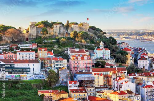 Sao Jorge Castle in Lisbon, Portugal