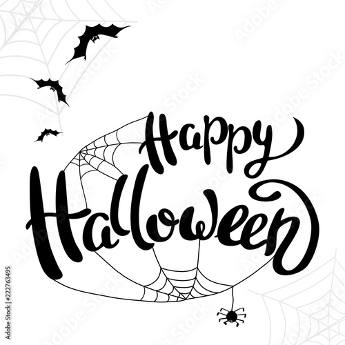 happy halloween template for banner or poster