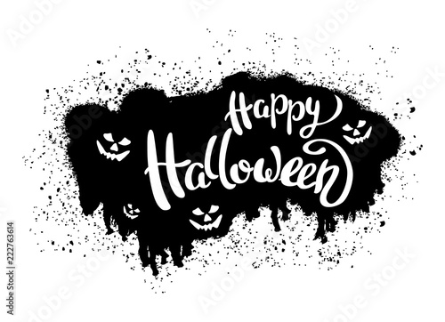 happy halloween template for banner or poster vector illustration