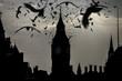 Photo manipulation  of Big Ben with dark bird