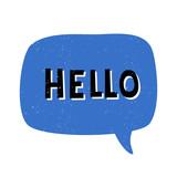 Hello Retro Typographic Design - 222771685