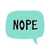 Nope Retro Typographic Design - 222774218