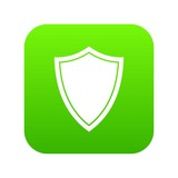 Shield for war icon digital green for any design isolated on white vector illustration - 222796449