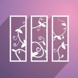 floral decorative element - 222819074