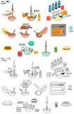 Recipe Pumpkin cake DIY instruction vector diy instruction manual including sketch - 222823444