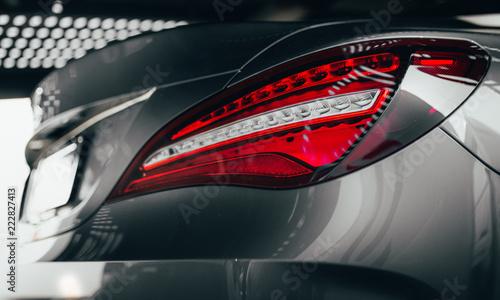 Closeup Modern Luxury Grayback Lights Headlight And Head Lamp Of