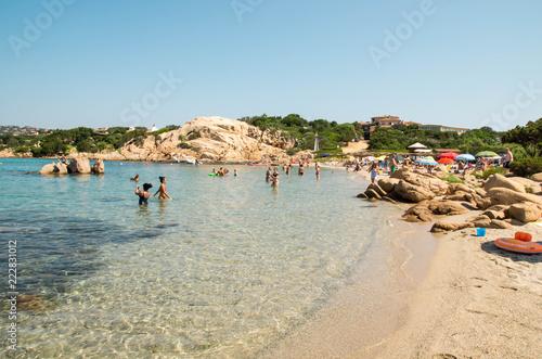 Foto Murales plage de Capriccioli en Sardaigne