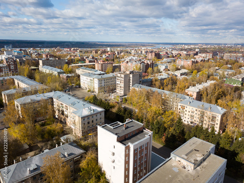 Tomsk cityscape and Tom river from aerial view. Modern city view. Siberia, Russia - 222831489