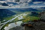 Blick vom Skierfe auf das Rapadalen-Delta, Lappland, Schweden - 222834627