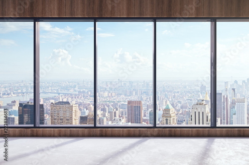 Modern interior with city view - 222834683