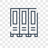 Lockers vector icon isolated on transparent background, Lockers logo design - 222836842