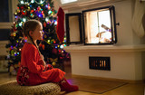 Little girl at home on Christmas eve - 222850833