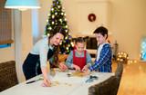 Family baking on Christmas eve - 222851033