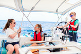 Family on board of sailing yacht - 222852603