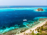 Top view of Tobago cays - 222852826