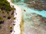 Top view of Tobago cays - 222853082