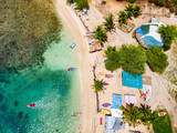 Top view of Caribbean island - 222853273