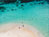 Top view of Caribbean island - 222853480