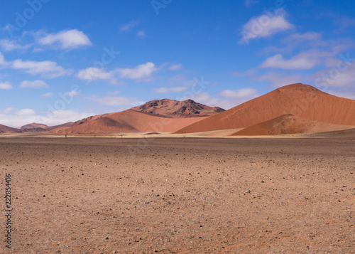 Sand dunes at Sossusflei in Namibia