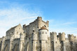 Leinwanddruck Bild - Medieval castle Gravensteen (Castle of the Counts) in Ghent, Belgium.