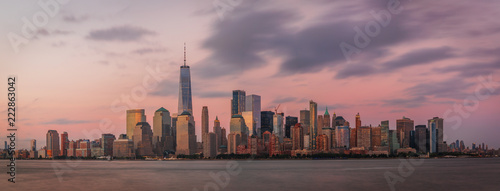 View to Lower Manhattan from Liberty State Park in New Jersey, USA - 222863042