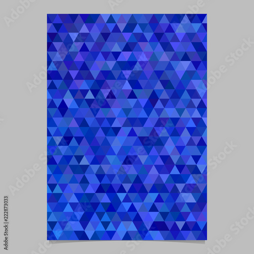 Fototapeta Blue abstract triangle brochure template design - vector background
