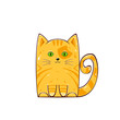 Cute red cat - 222880221