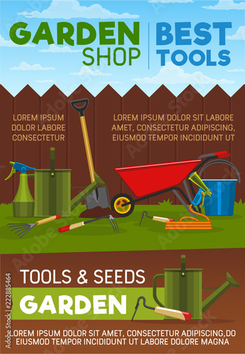 Sticker Gardening tools, items and equipment