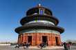 BEIJING, CHINA - DEC 19, 2017: Temple of Heaven of Beijing at daytime with blue sky wide shot