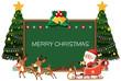 Merry christmas Blackboard card