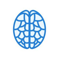 Brain blue icon blue on white background © Riduwanmolla