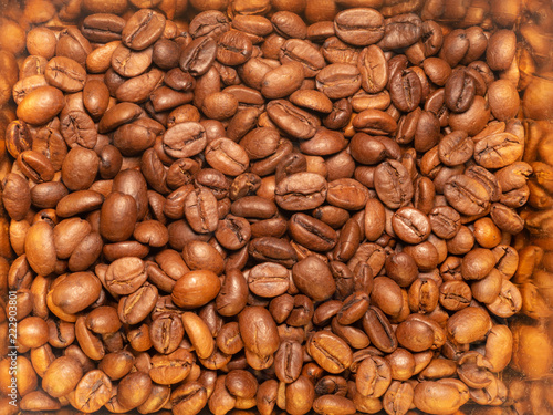 Coffee beans texture, abstract background