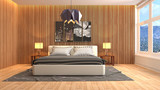 Bedroom interior. 3d illustration - 222912049