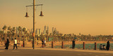 La Mer in Dubai, UAE. La Mer  at sunset.  It is a new beachfront district with shopping and restaurants in Jumeirah. - 222913655