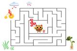 Funny maze game for Preschool Children. Illustration of logical education for children of preschool age. - 222914604