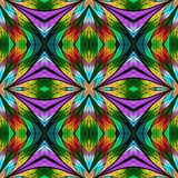 Beautiful seamless flower pattern in stained-glass window style. You can use it for invitations, notebook covers, phone cases, postcards, cards, wallpapers and so on. - 222916051