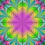 Flower pattern in fractal design. Artwork for creative design, art and entertainment. - 222916670
